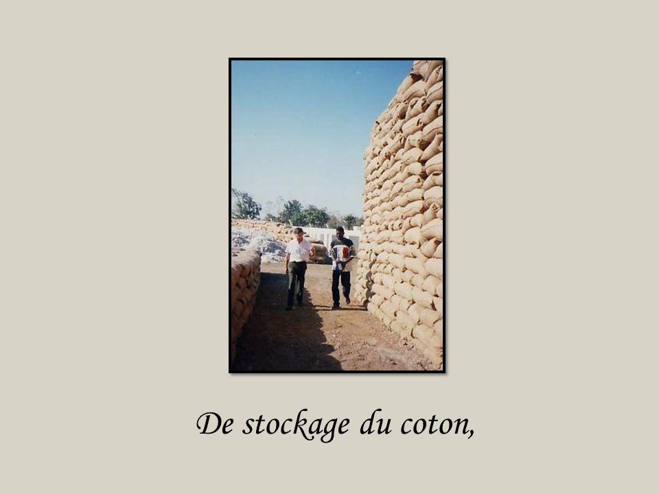 De stockage du coton,