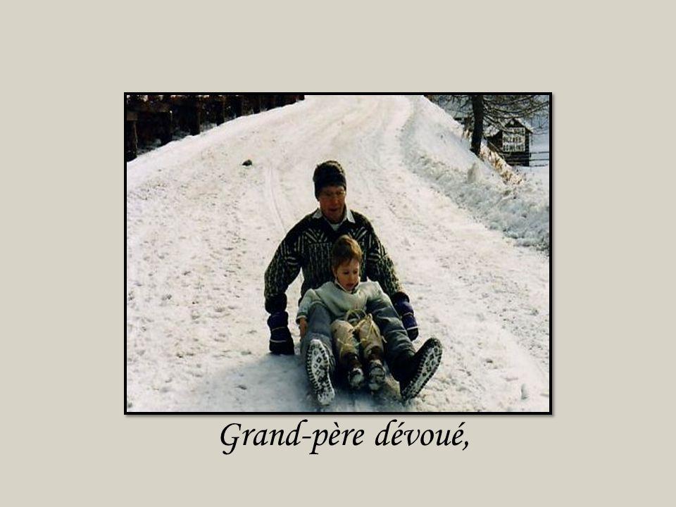 Grand-père dévoué,