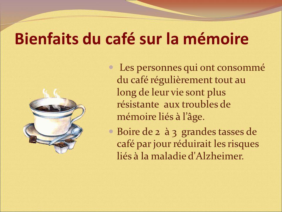 Bienfaits du café sur la mémoire