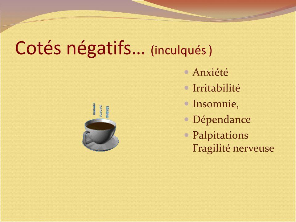 Cotés négatifs… (inculqués )