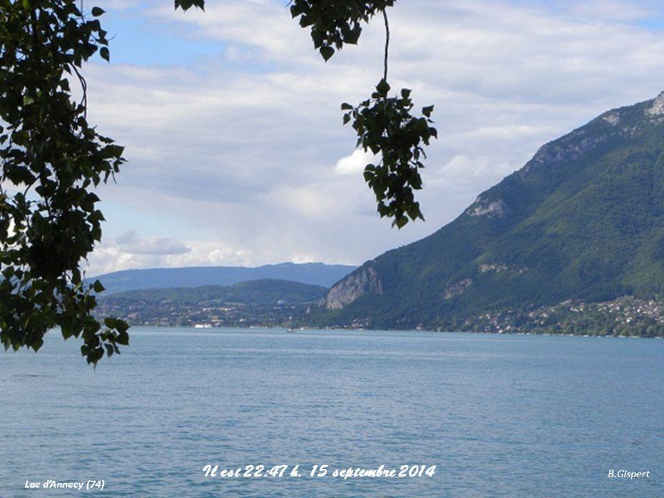 Il est 21:04 h. 6 avril 2017 B.Gispert Lac d'Annecy (74)