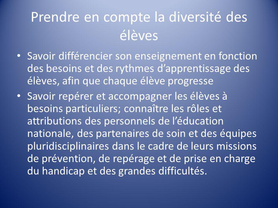 Prendre en compte la diversité des élèves