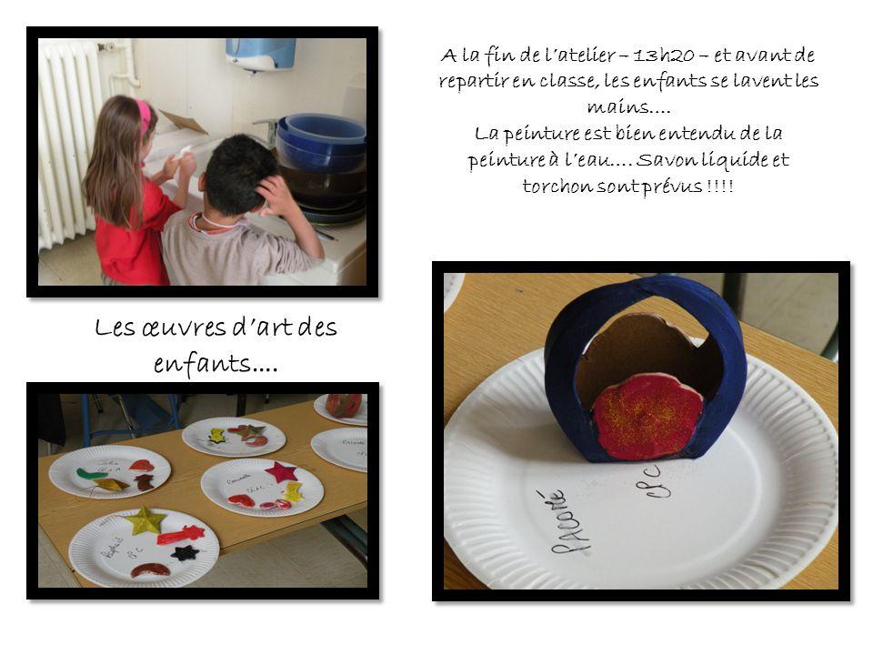 Les œuvres d'art des enfants….