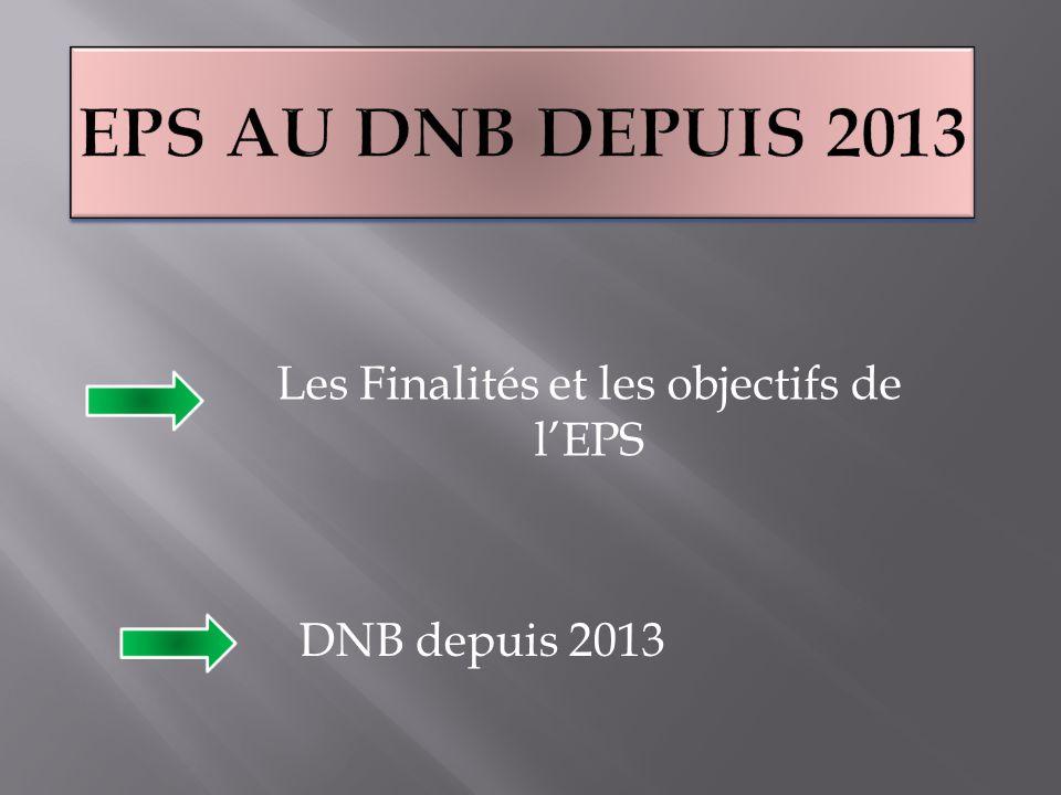 Les Finalités et les objectifs de l'EPS