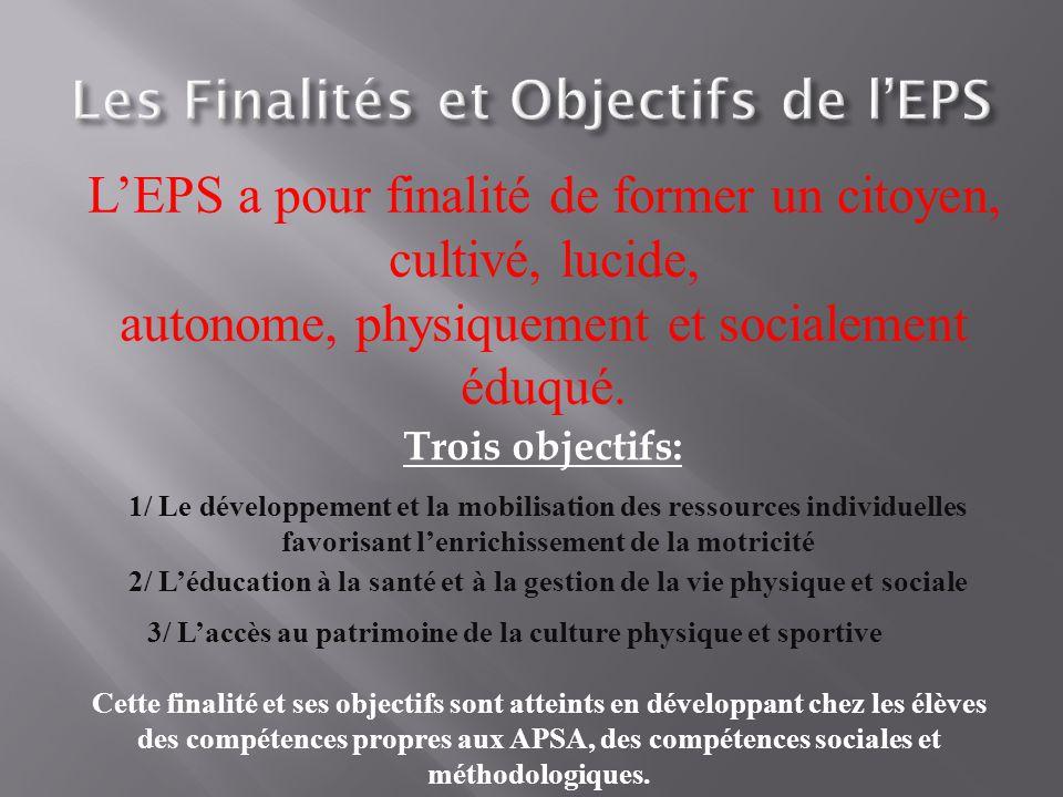 Les Finalités et Objectifs de l'EPS