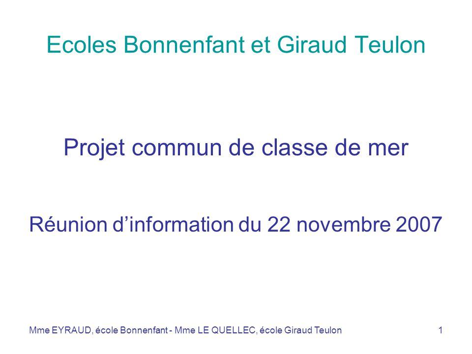 Ecoles Bonnenfant et Giraud Teulon