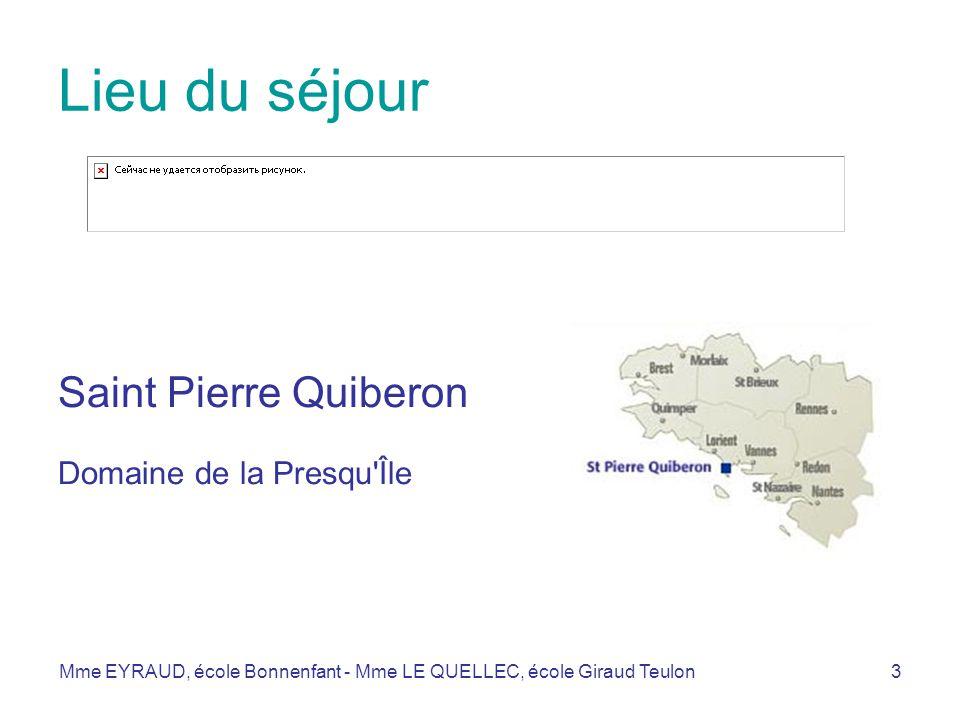 Lieu du séjour Saint Pierre Quiberon Domaine de la Presqu Île