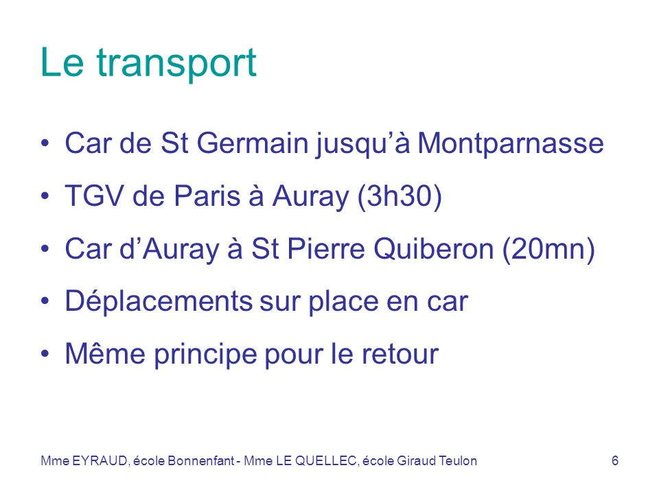 Le transport Car de St Germain jusqu'à Montparnasse
