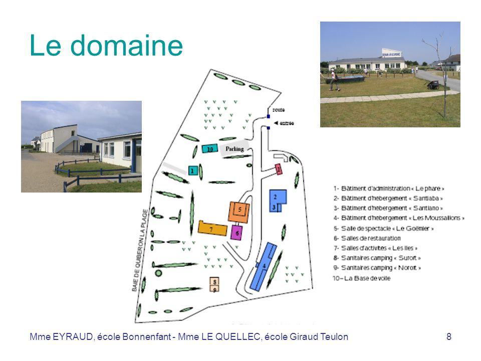 Le domaine Mme EYRAUD, école Bonnenfant - Mme LE QUELLEC, école Giraud Teulon