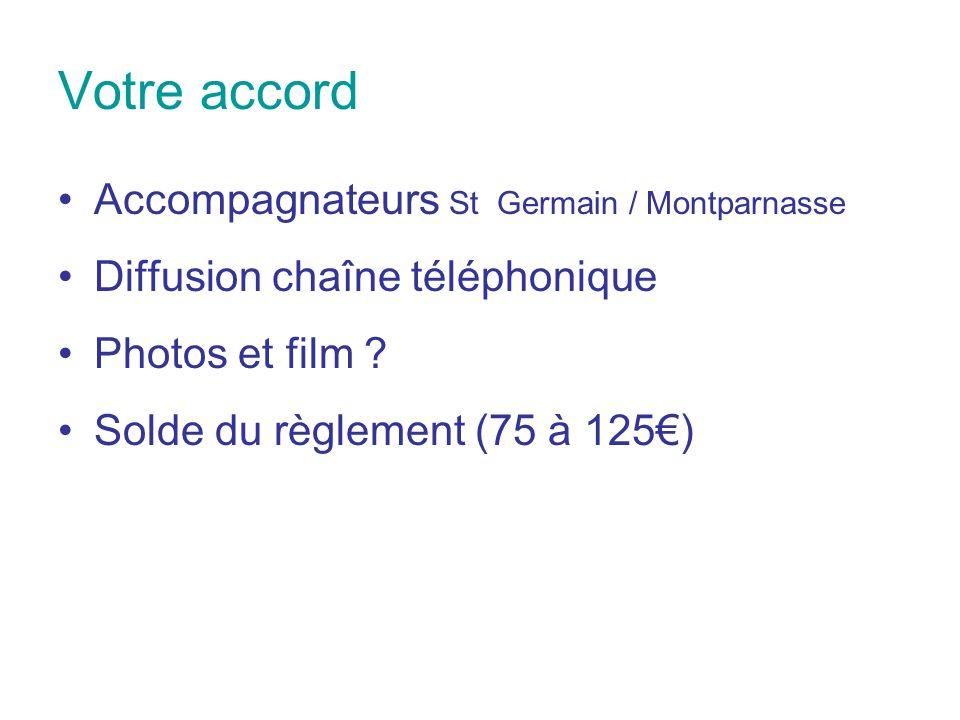Votre accord Accompagnateurs St Germain / Montparnasse