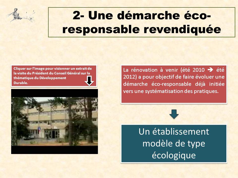 2- Une démarche éco-responsable revendiquée