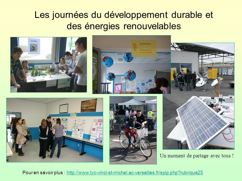 Les journées du développement durable et des énergies renouvelables