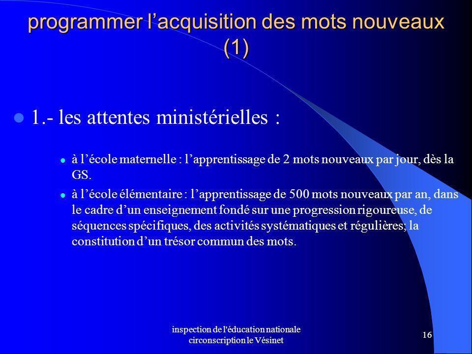 programmer l'acquisition des mots nouveaux (1)