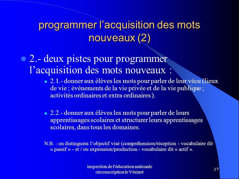 programmer l'acquisition des mots nouveaux (2)