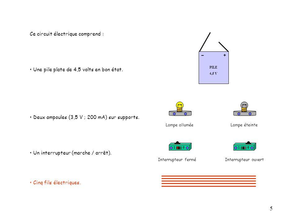 - Ce circuit électrique comprend :