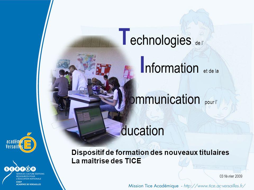 Technologies de l' Information et de la. Communication pour l'