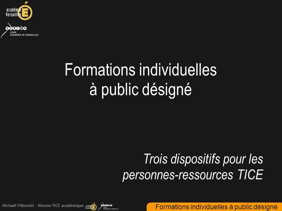 Formations individuelles à public désigné