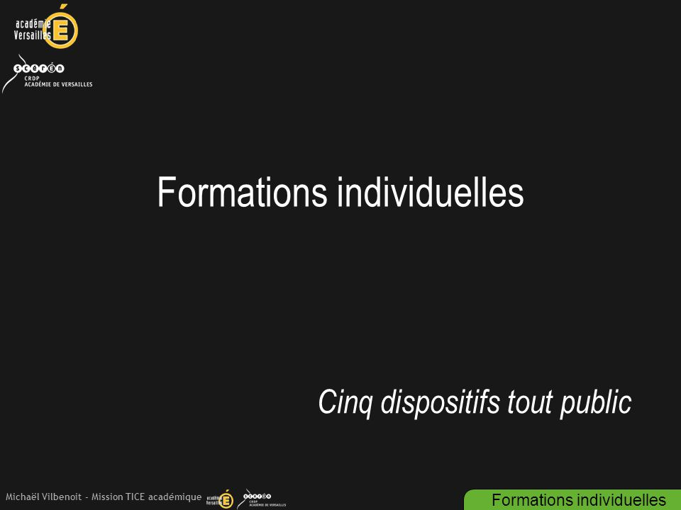 Formations individuelles