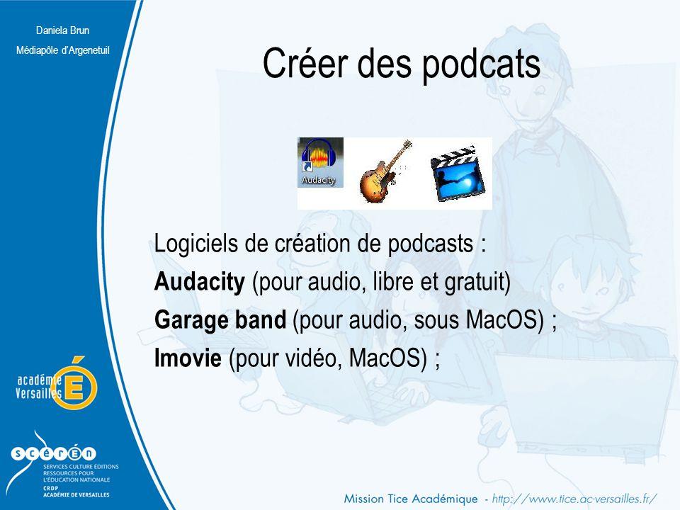 Créer des podcats Logiciels de création de podcasts :