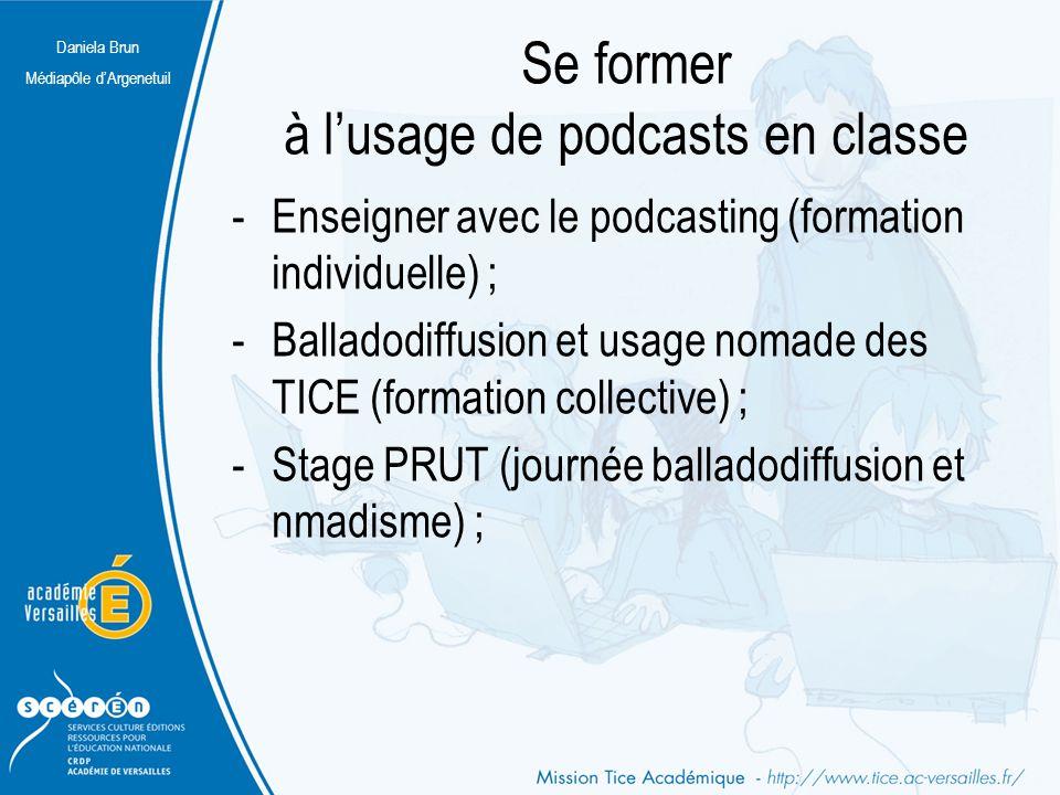Se former à l'usage de podcasts en classe