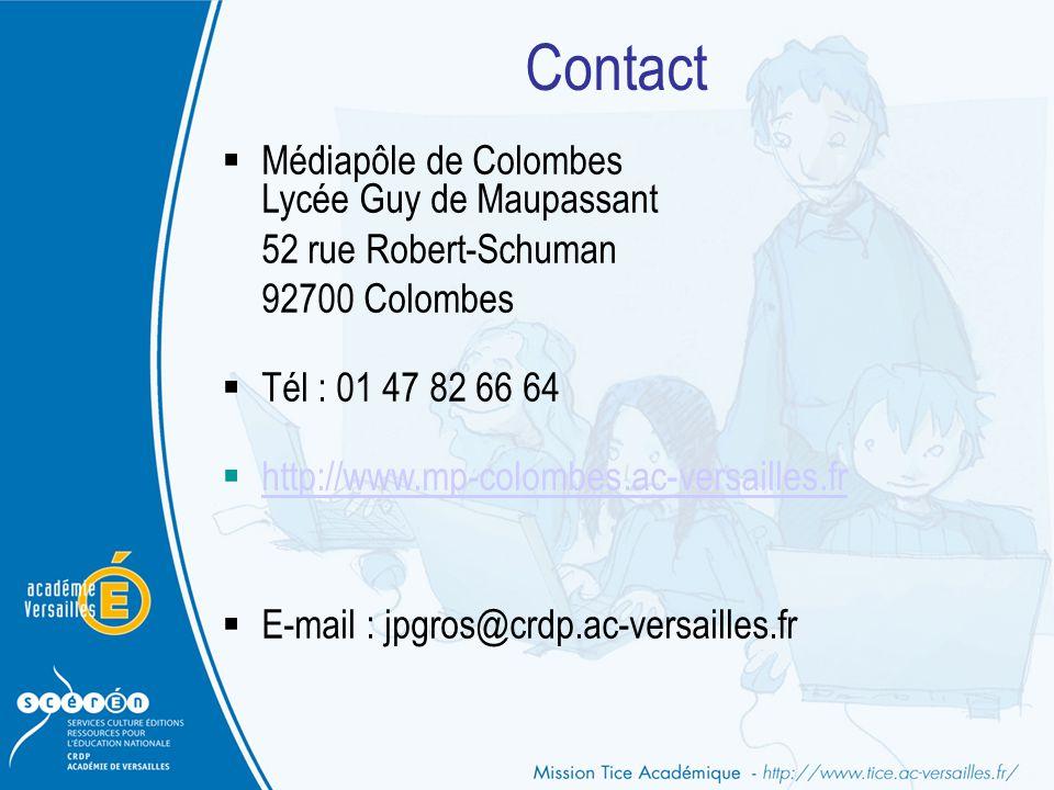 Contact Médiapôle de Colombes Lycée Guy de Maupassant