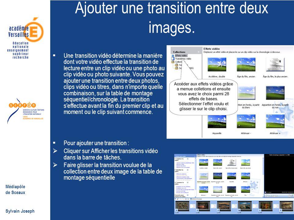 Ajouter une transition entre deux images.