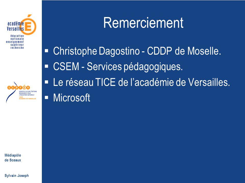 Remerciement Christophe Dagostino - CDDP de Moselle.