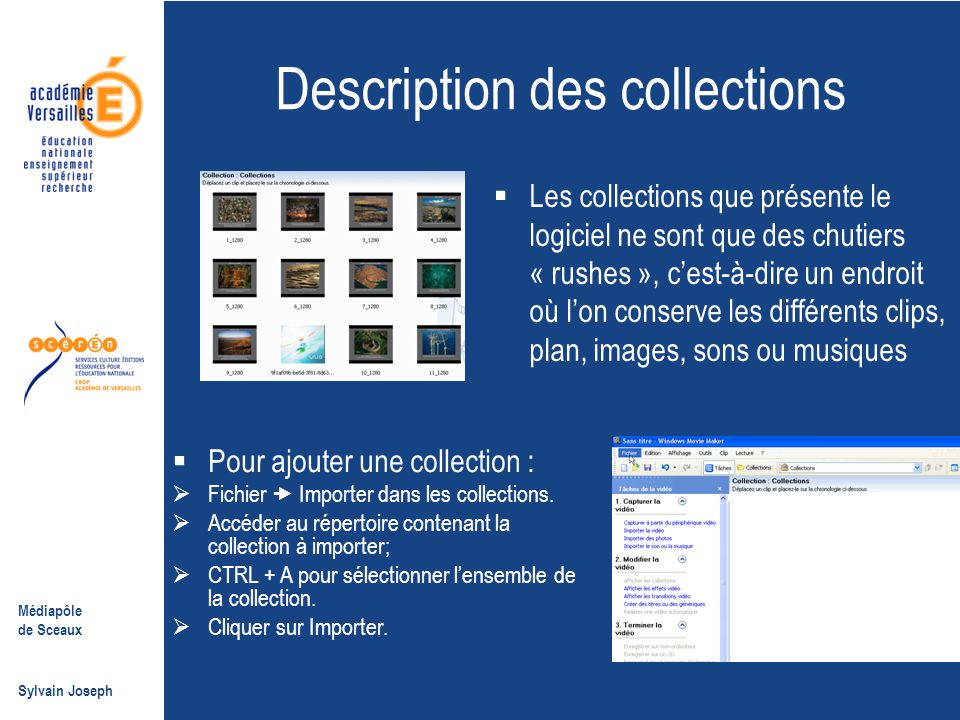 Description des collections