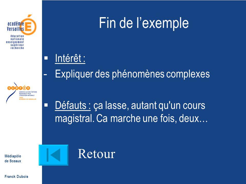 Fin de l'exemple Retour Intérêt : Expliquer des phénomènes complexes
