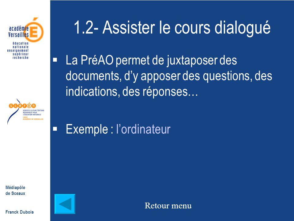 1.2- Assister le cours dialogué