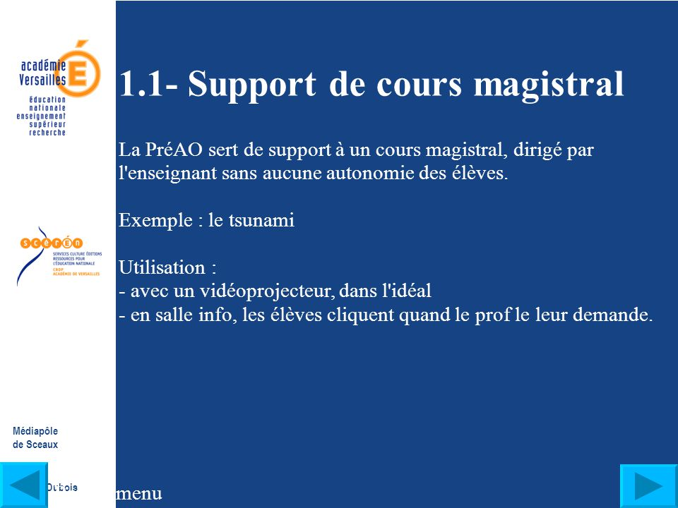 1.1- Support de cours magistral