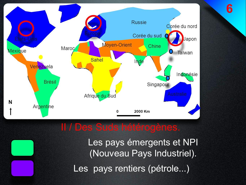 6 II / Des Suds hétérogènes. Les pays émergents et NPI