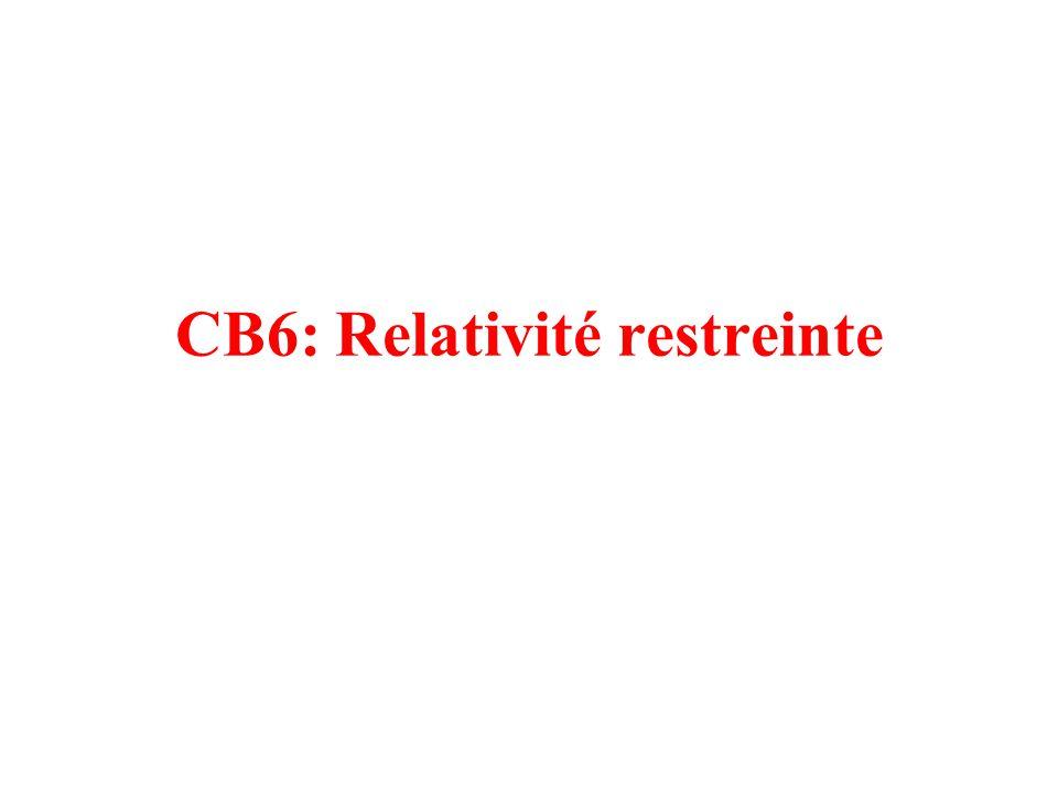 CB6: Relativité restreinte