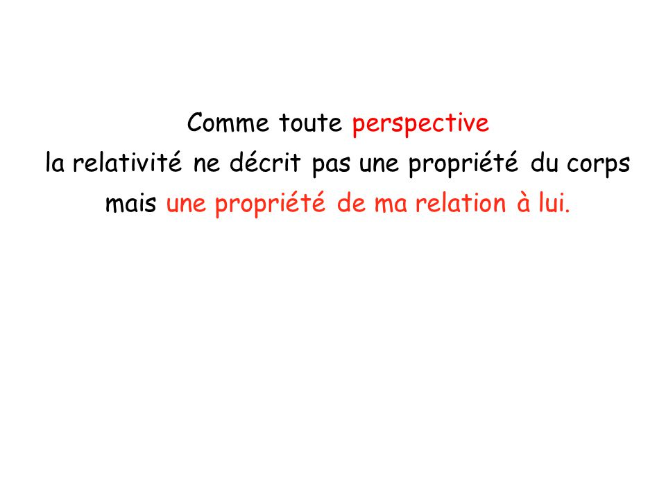 Comme toute perspective