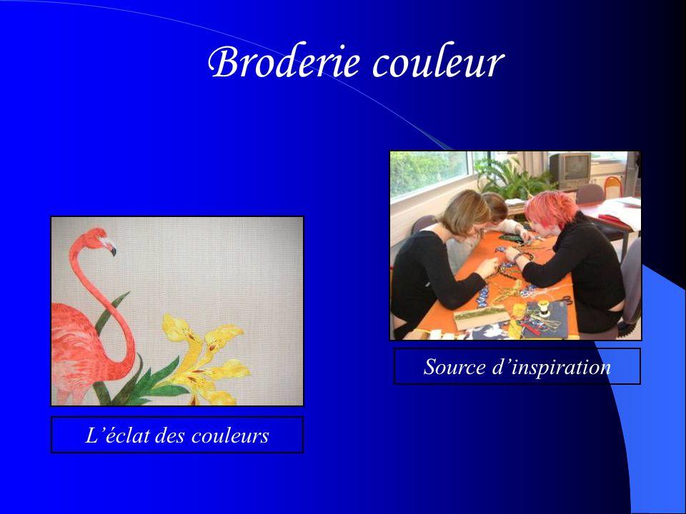 Broderie couleur Source d'inspiration L'éclat des couleurs