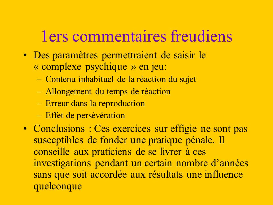 1ers commentaires freudiens