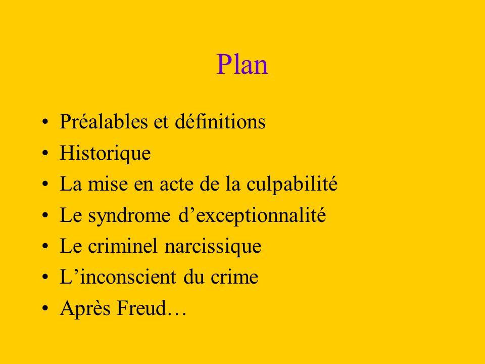 Plan Préalables et définitions Historique
