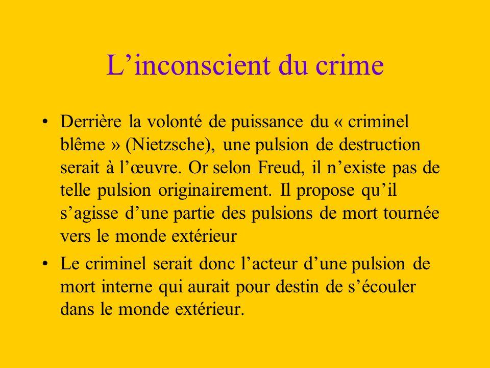 L'inconscient du crime