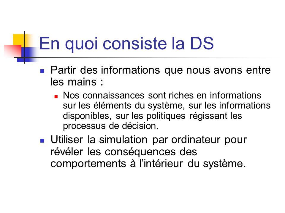 En quoi consiste la DS Partir des informations que nous avons entre les mains :