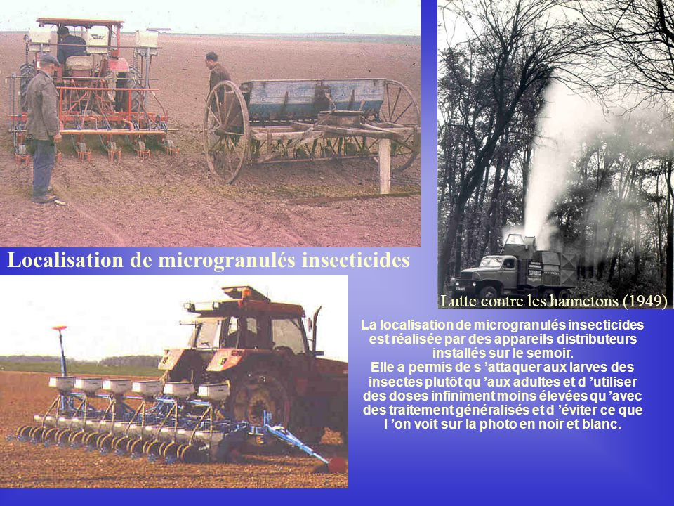 Localisation de microgranulés insecticides