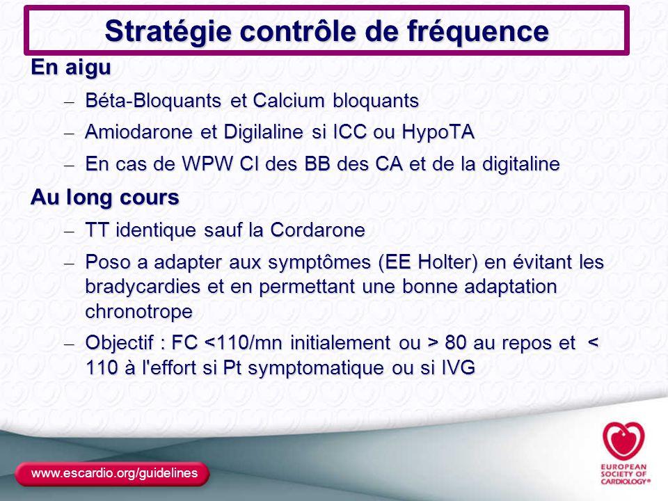 Stratégie contrôle de fréquence