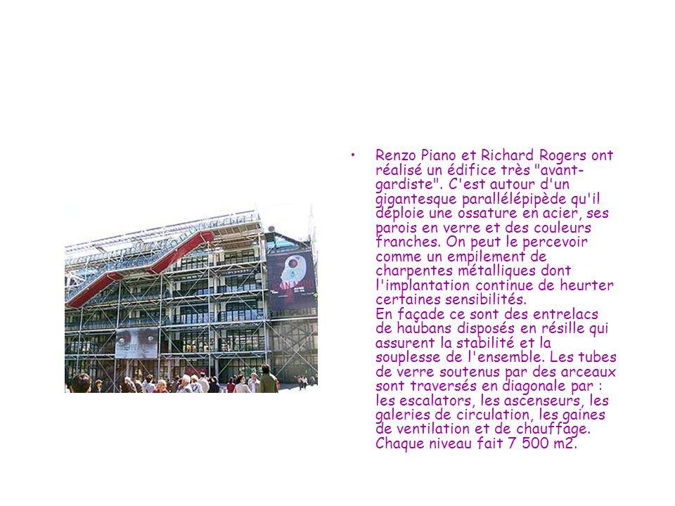 Renzo Piano et Richard Rogers ont réalisé un édifice très avant-gardiste .