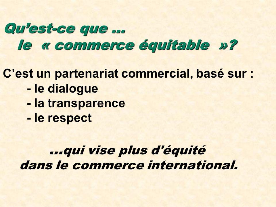 Qu'est-ce que … le « commerce équitable »