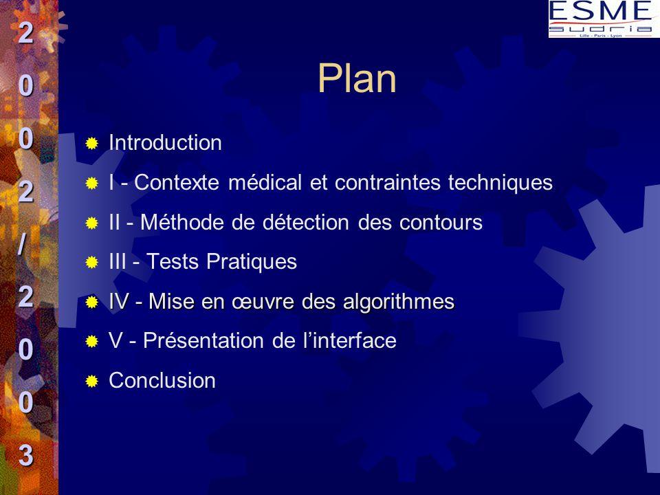 Plan 2 / 3 Introduction I - Contexte médical et contraintes techniques