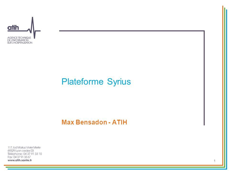 Plateforme Syrius Max Bensadon - ATIH