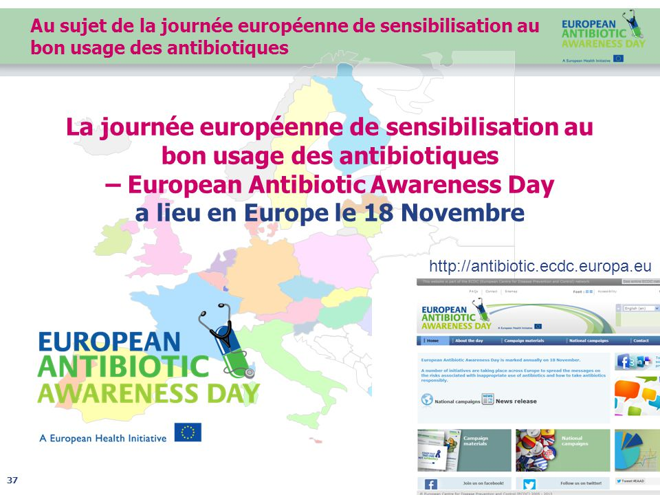 Au sujet de la journée européenne de sensibilisation au bon usage des antibiotiques