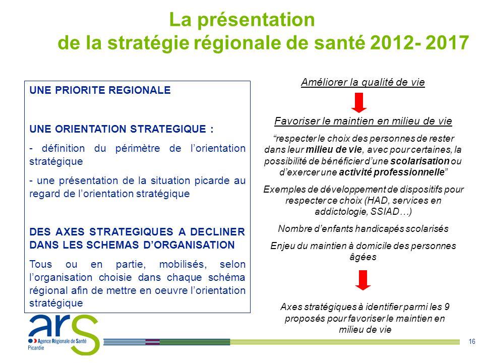 La présentation de la stratégie régionale de santé 2012- 2017