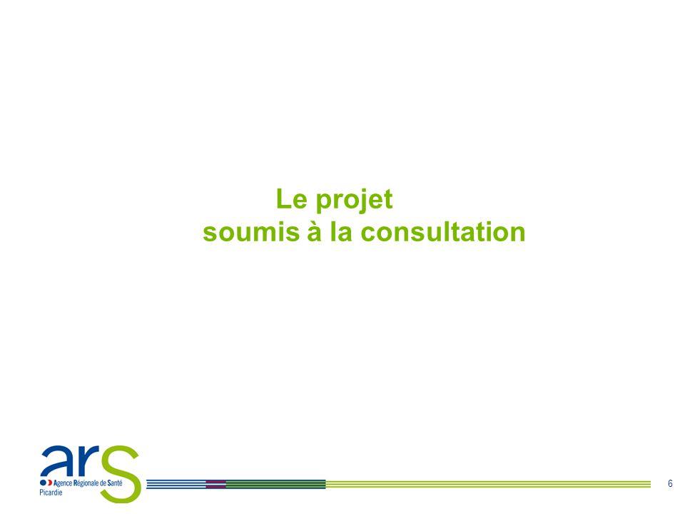 Le projet soumis à la consultation