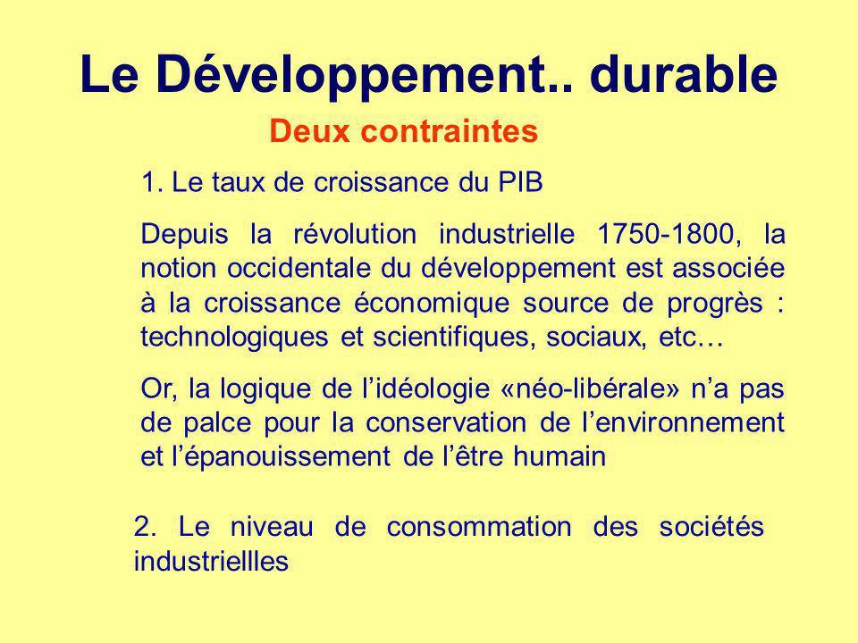 Le Développement.. durable
