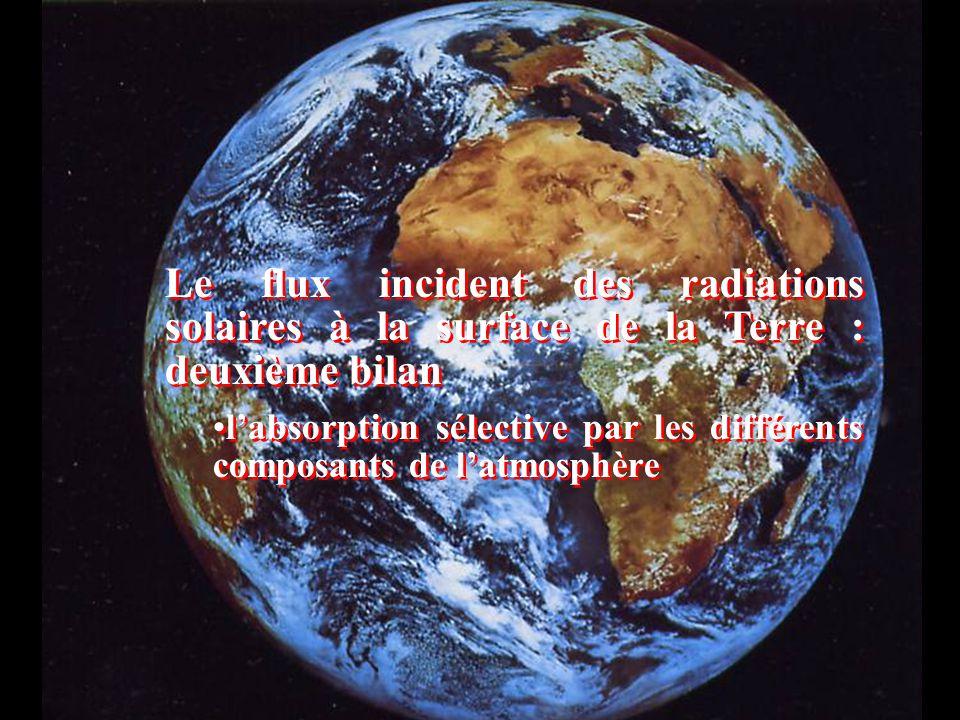 Le flux incident des radiations solaires à la surface de la Terre : deuxième bilan